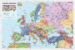 Európa országai térkép könyöklő - Stiefel
