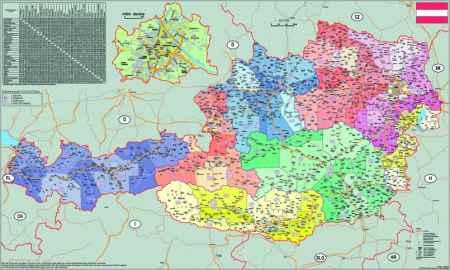 ausztria irányítószámos térkép Ausztria irányítószámos falitérkép   Stiefel   Útikönyv   Térkép  ausztria irányítószámos térkép