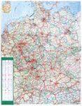 Németország autótérképe falitérkép - Stiefel