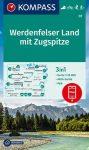 WK 07 - Werdenfelser Land mit Zugspitze turistatérkép - KOMPASS
