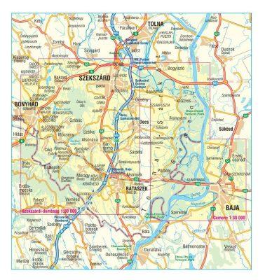 Gemenc Szekszardi Dombsag Geresdi Dombsag Terkep Szarvas Map