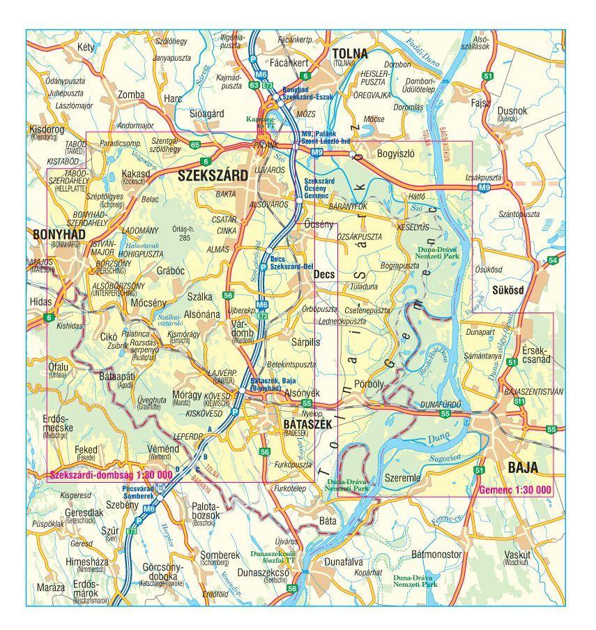szarvas térkép Gemenc / Szekszárdi dombság / Geresdi dombság térkép   Szarvas map  szarvas térkép