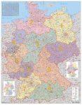 Németország postai irányítószámai falitérkép - Stiefel