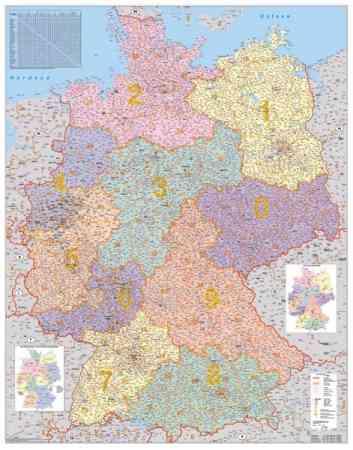németország irányítószámos térkép Németország postai irányítószámai falitérkép   Stiefel   Útikönyv  németország irányítószámos térkép