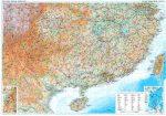 Kína déli része falitérkép - GiziMap