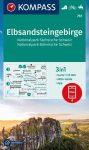 WK 761 - Elbsandsteingebirge  turistatérkép - KOMPASS