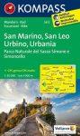 WK 2455 - San Marino - San Leo - Urbino - Urbania turistatérkép - KOMPASS