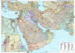 Közel-Kelet politikai falitérkép - GiziMap