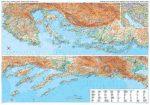 Dalmácia és Isztria domborzati falitérkép - GiziMap