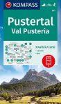 WK 671 - Pustertal / Val Pusteria 3 részes turistatérkép - KOMPASS
