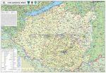 Dél-Dunántúli régió falitérkép - Stiefel