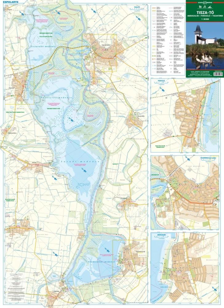 Tisza To Abadszalok Poroszlo Tiszafured Terkep Szarvas Map