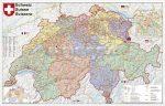 Svájc postai irányítószámai falitérkép - Stiefel
