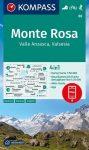 WK 88 - Monte Rosa, Valle Anzasca, Valsesia turistatérkép - KOMPASS