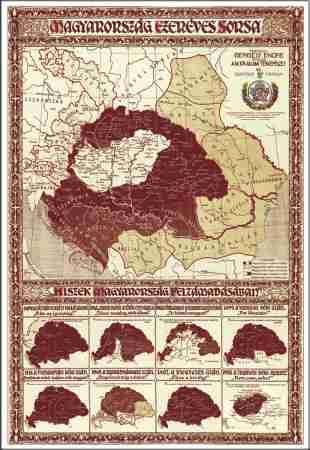 magyarország ezeréves sorsa térkép Magyarország ezeréves sorsa falitérkép   Stiefel   Útikönyv  magyarország ezeréves sorsa térkép