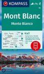 WK 85 - Monte Bianco / Mont Blanc turistatérkép - KOMPASS