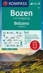 WK 54 - Bozen / Bolzano turistatérkép - KOMPASS