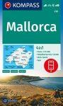 WK 230 - Mallorca turistatérkép - KOMPASS