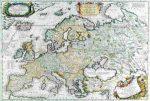 Antik Európa térkép könyöklő - Stiefel