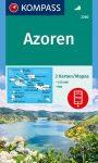 WK 2260 - Azori-szigetek 2 részes turistatérkép - KOMPASS