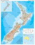 Új-Zéland domborzati falitérkép - GiziMap