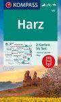 WK 450 - Harz 2 részes turistatérkép - KOMPASS