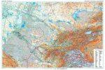 Közép-Ázsia domborzati falitérkép - GiziMap