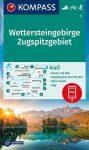 WK 5 - Wettersteingebirge - Zugspitzgebiet turistatérkép - KOMPASS