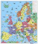 Európa térkép gyermekeknek falitérkép - f&b