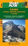 Tatra Plan 5000 - Tatry Vysoké, Západné, Belianske (Tátra: Magas-, Nyugati-, Bélai-Tátra ) turista térkép