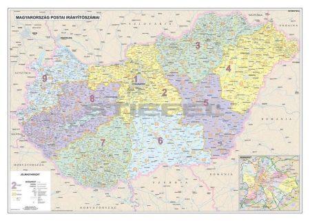 Magyarország postai irányítószámai falitérkép - Stiefel