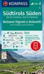 WK 74 - Südtirols Süden (Bolzano Vigneti e Dolomiti - Val di Cembra - Val di Fiemme) turistatérkép - KOMPASS