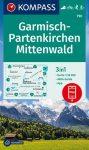 WK 790 - Garmisch Part. - Mittenwald turistatérkép - KOMPASS