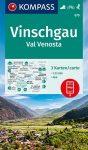 WK 670 - Vinschgau - Val Venosta 3 részes turistatérkép - KOMPASS