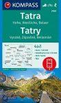 WK 2100 - Tatra  turistatérkép - KOMPASS