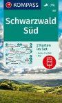 WK 887 - Schwarzwald Süd 2 részes turistatérkép - KOMPASS