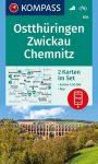 WK 804 - Weimar - Jena - Holzland turistatérkép - KOMPASS