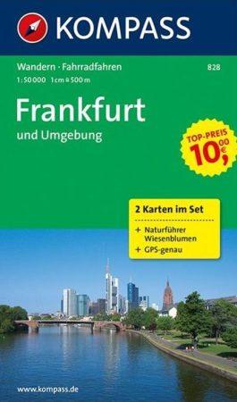 WK 828 - Frankfurt und Umgebung 2 részes turistatérkép - KOMPASS