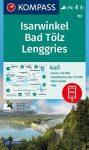 WK 182 - Isarwinkel - Bad Tölz - Lenggries  turistatérkép - KOMPASS
