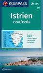 WK 238 - Isztria turistatérkép - KOMPASS