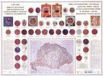 Erdély és a kiváltságos területek címerei és pecsétjei falitérkép - Stiefel