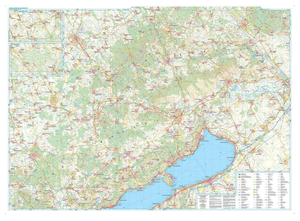 balaton felvidék domborzati térkép Bakony / Bakonyalja / Balaton felvidék térkép   Szarvas map