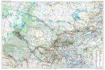 Közép-Ázsia autótérképe falitérkép - GiziMap