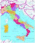 Olaszország postai irányítószámai falitérkép - Stiefel