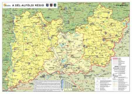 délkelet magyarország térkép Dél Alföld régió falitérkép   Stiefel   Útikönyv   Térkép   Földgömb délkelet magyarország térkép