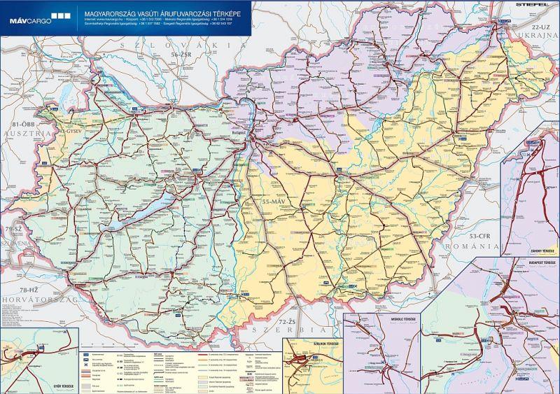 vonat térkép magyarország Magyarország vasúti árufuvarozási térképe   Stiefel   Útikönyv  vonat térkép magyarország