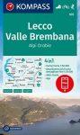 WK 105 - Lecco - Valle Brembana turistatérkép - KOMPASS