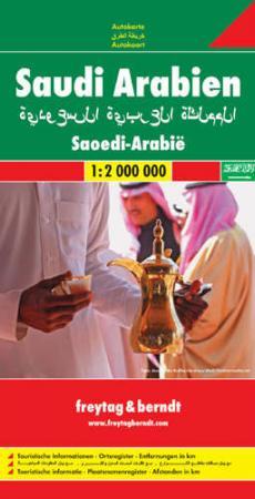 Szaud-Arábia autótérkép - f&b AK 106