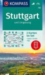 WK 780 - Stuttgart und Umgebung 2 részes turistatérkép - KOMPASS