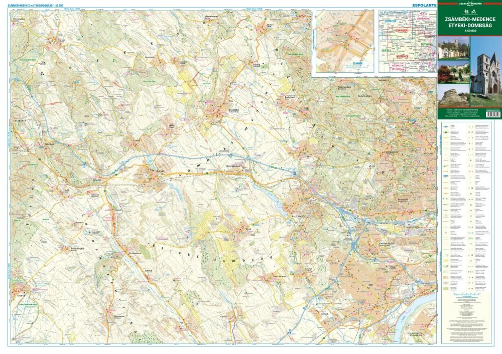 Zsambeki Medence Etyeki Dombsag Terkep Szarvas Map Utikonyv